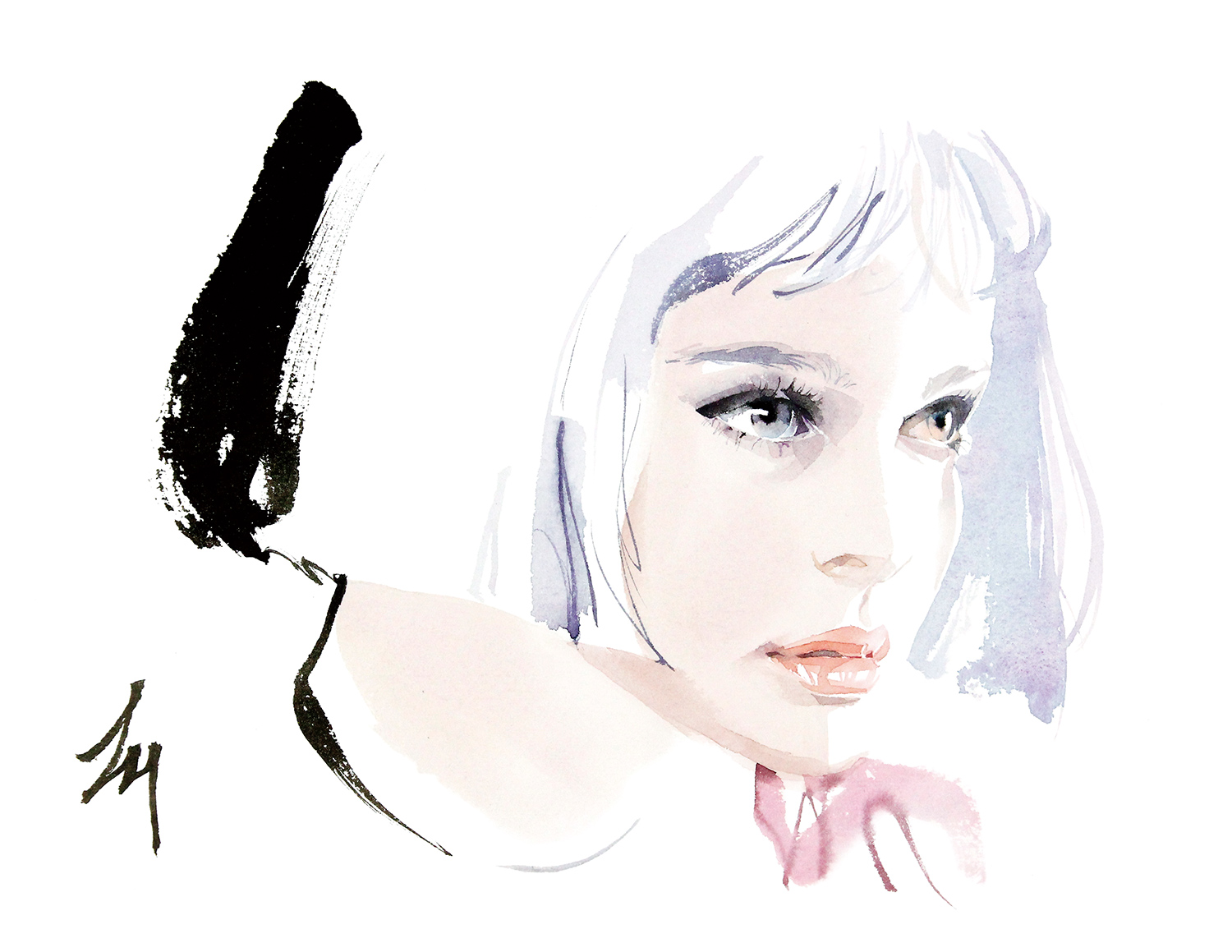 lizard, art, fashion, illustration, Mathilda