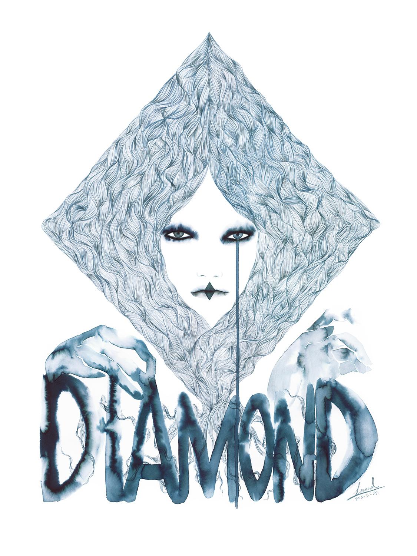 lizard, art, fashion, illustration, canson, Diamond