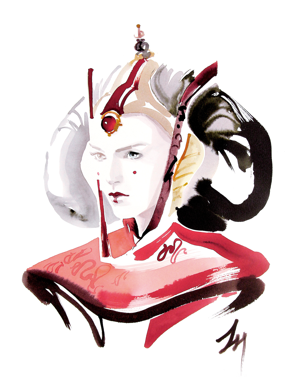 lizard, art, fashion, illustration, amatruda, Padmé_Amidala