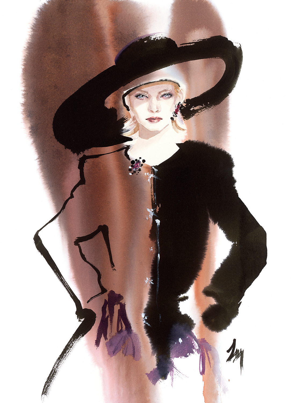 lizard, art, fashion, illustration, ysl, autumn, 1995