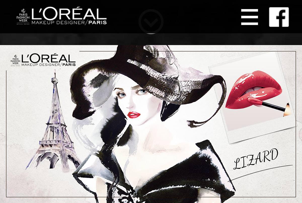 lizard, art, fashion, illustration, L'Oreal Paris, Commercial
